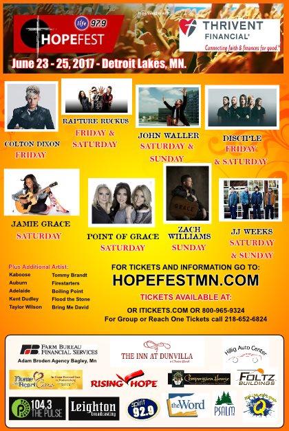 HOPEFEST @ Detroit Lakes, MN